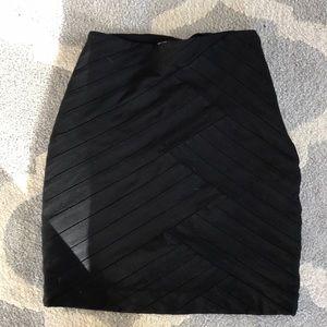 Express black body con mini skirt